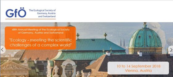 48th annual Meeting of the Ecological Society of Germany, Austria and Switzerland