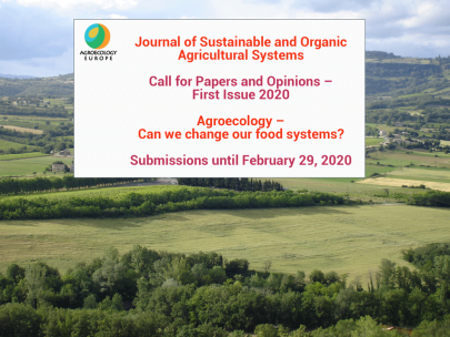Call for Papers Agroecology