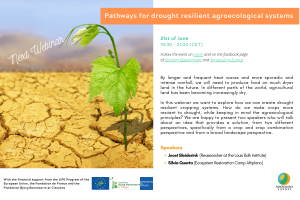 AEEU WEBINAR ON 'PATHWAYS FOR DROUGHT-RESILIENT AGROECOLOGICAL SYSTEMS' HELD ON 21ST OF JUNE ON OUR FACEBOOK PAGE